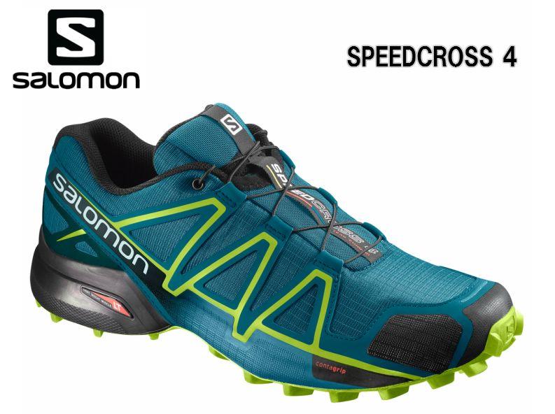SALOMON 18FW SPEEDCROSS4 Deep Lagoonトレラン メンズ 男性用 トレーニング レース ロード 初級者から上級者向けトレイルランニングシューズ L40465200