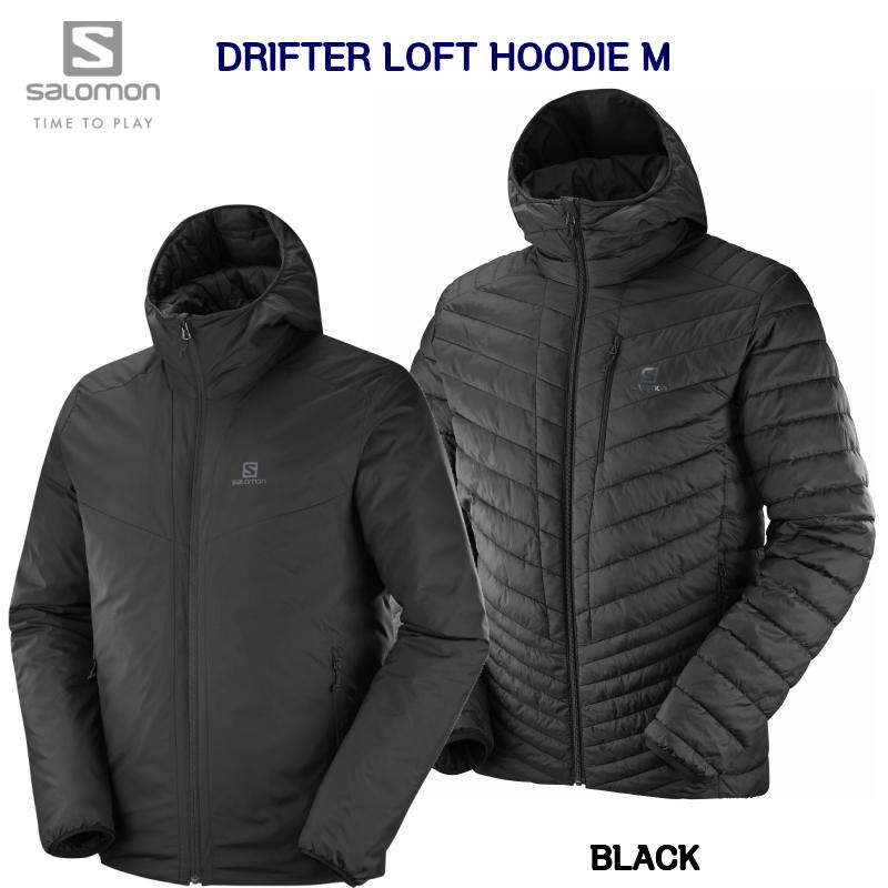 サロモン SALOMON DRIFTER LOFT HOODIE MEN BLACK L40388400  ドリフター ロフト フーディ ジャケット メンズ ブラック