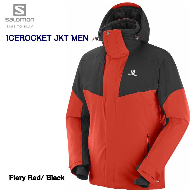 2019 SALOMON ICEROCKET JKT Mens L40419000 Fiery Red Black サロモン アイスロケット フェアリーレッド メンズ