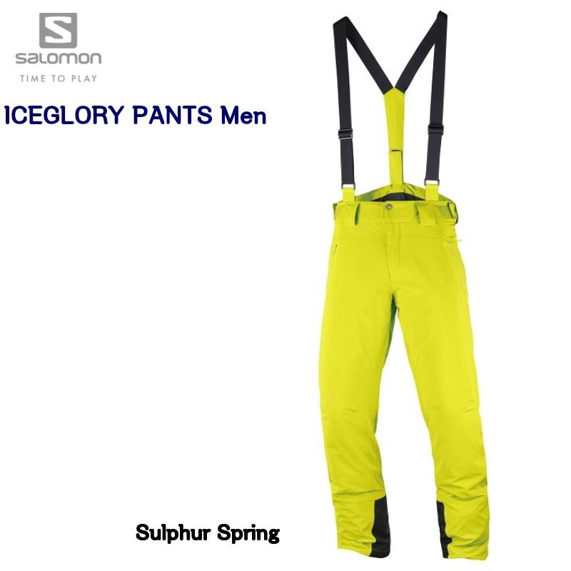 【お買物マラソン期間P5倍】2019 SALOMON ICEGLORY PANT Men LC1003100 Sulphur Spring Regular Length サロモン スキーウェア パンツ メンズ レギュラーレングス