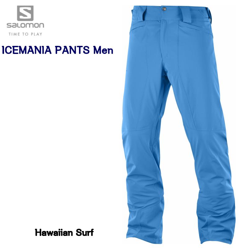 【お買物マラソン期間P5倍】2019 SALOMON ICEMANIA PANT Men LC1004400 Hawaiian Surf ASIAN LENGTH サロモン アイスマニア パンツ メンズ ハワイアン サーフ アジアン レングス