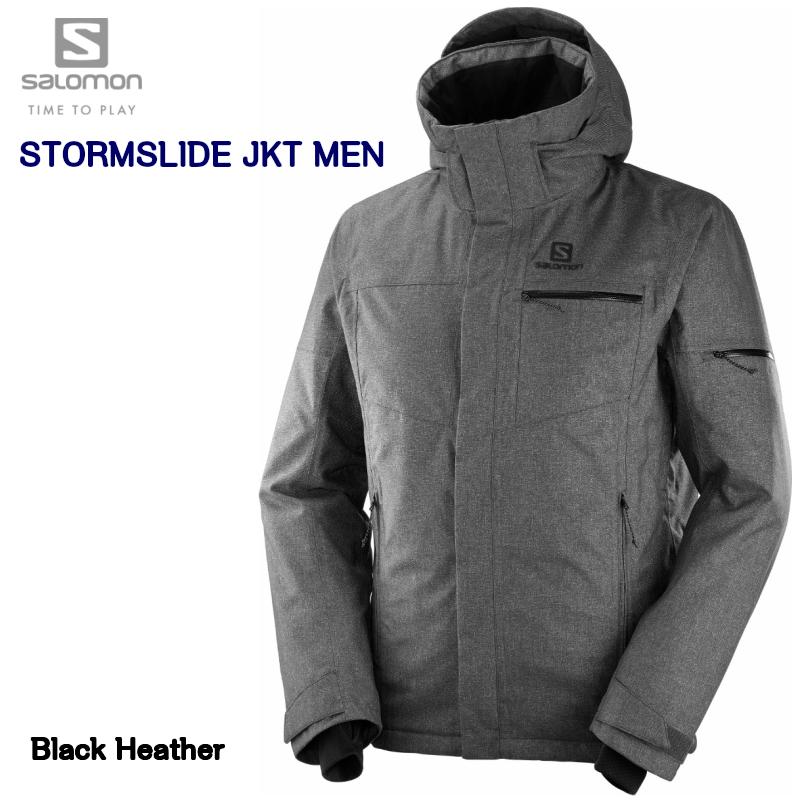 サロモン 2020 SALOMON STORMSLIDE JKT Mens LC1194000 Black Heather  ストームスライド ジャケット メンズ