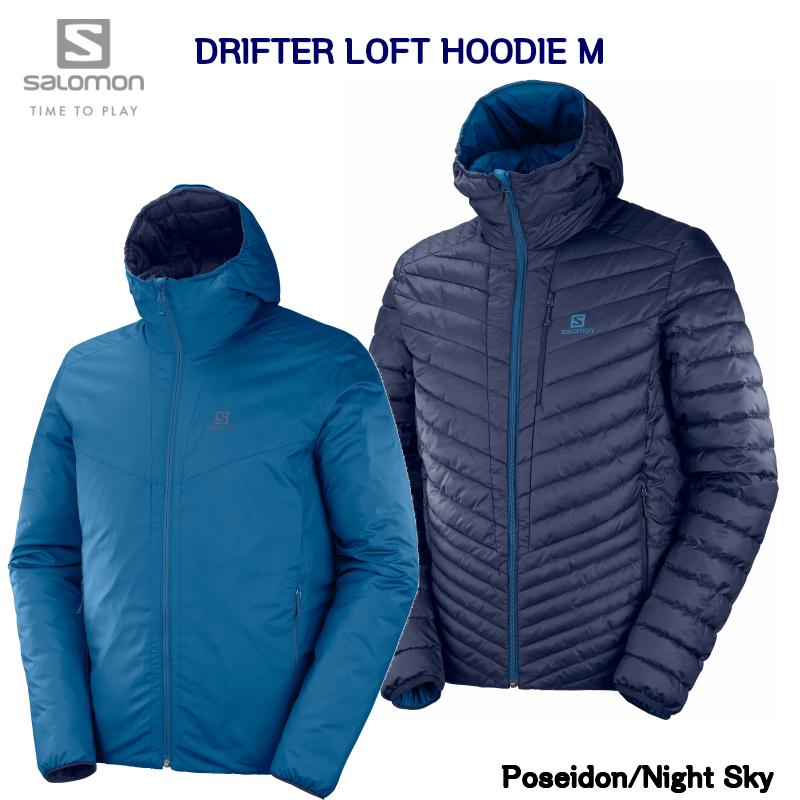 サロモン SALOMON DRIFTER LOFT HOODIE MEN POSEIDON NIGHT SKY LC1201600  ドリフター ロフト フーディ ジャケット メンズ ポセイドン ナイトスカイ