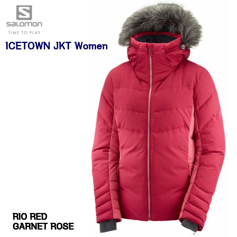 サロモン 2019 2020 SALOMON ICETOWN JKT Women Rio Red Garnet Rose LC1209600  アイスタウン レディス ジャケット スキーウエア