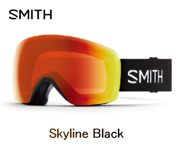 【お買物マラソン期間P5倍】SMITH スミス 2019 SKYLINE BLACK アジアンフィット CP EverydayRed ゴーグル スキー スノボ スノーボード