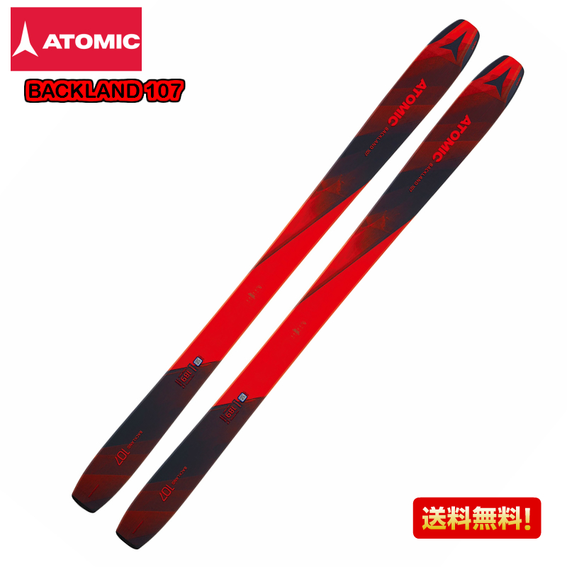 2018/2019 ATOMIC BACKLAND 107 Red Blue バックランド スキー 板のみ