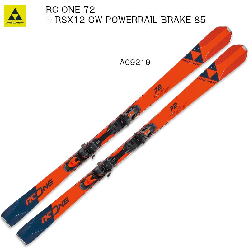 2019 2020 FISCHER RC ONE 72 MULTIFLEX + RSX12 GW PR B85 フィッシャー スキー ピステ