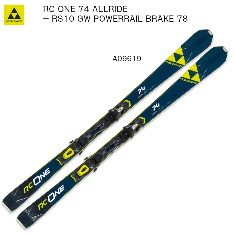 2019 2020 FISCHER RC ONE 74 ALLRIDE + RS10 GW PR B78 フィッシャー スキー ピステ