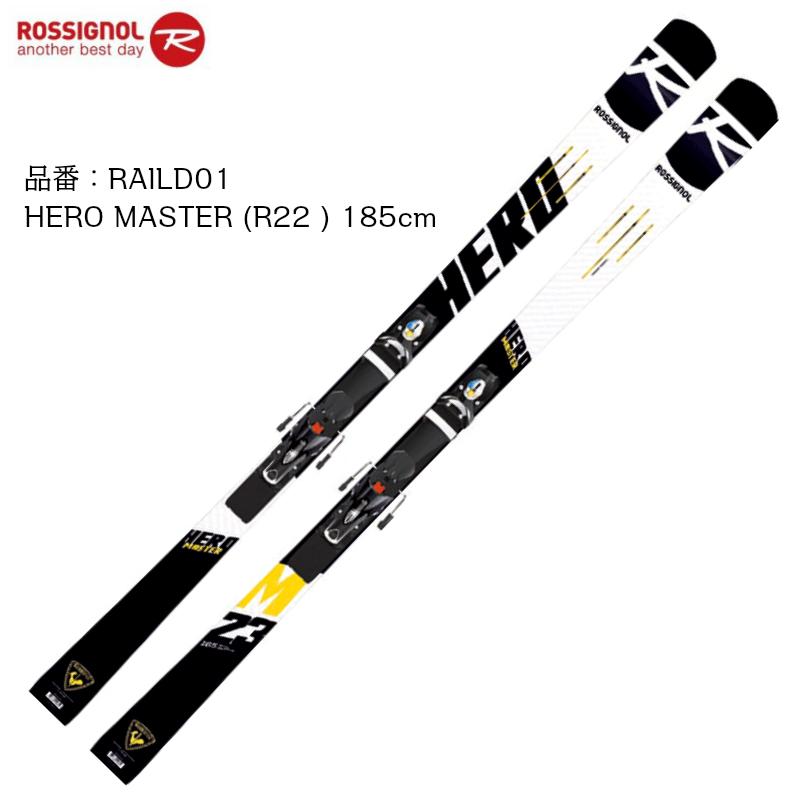 ロシニョール 2019 2020 ROSSIGNOL HERO MASTER R22 + SPX12 ROCKERACE BK ICON 185cm  ヒーロー マスターズ レーシング ビンディングセット
