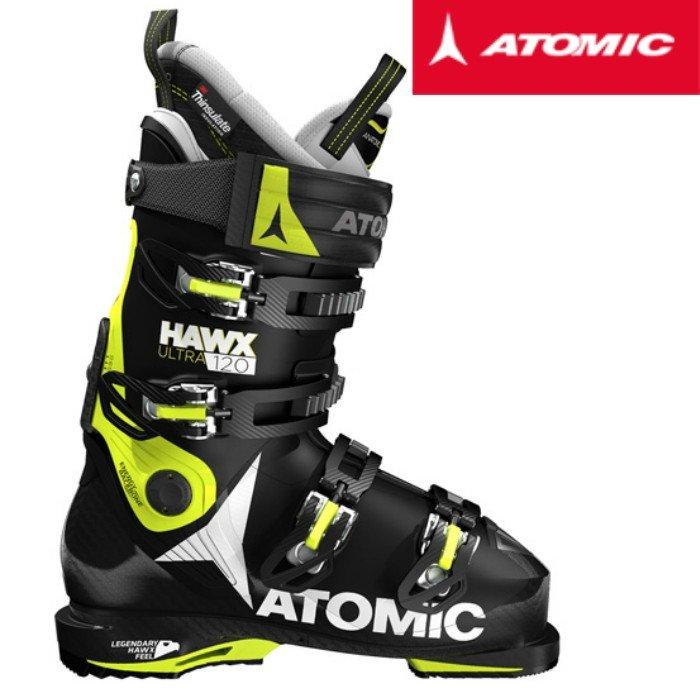 アトミック 2017 2018ATOMIC HAWX ULTRA 120 Black Lime  スキーブーツ ホークス メモリーフィット 送料無料
