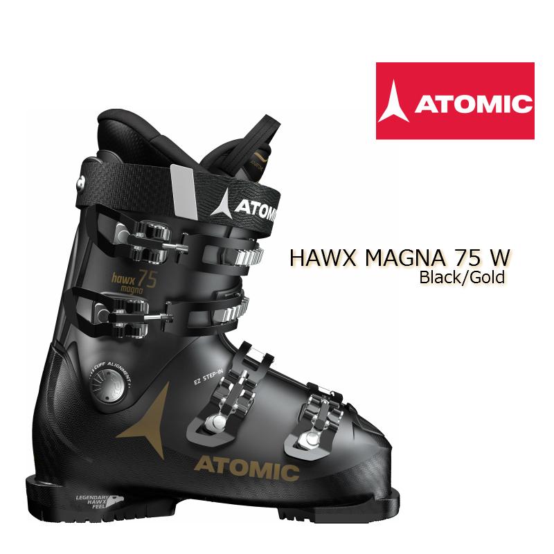 ATOMIC HAWX MAGNA 75W 黒/ゴールド 23/23.5cm アトミック スキーブーツ レディース