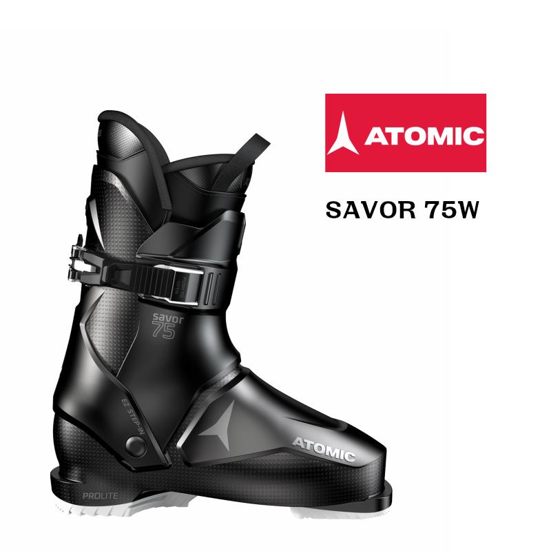 アトミック 2019 2020 ATOMIC SAVOR 75W Black White  セイヴァー スキーブーツ