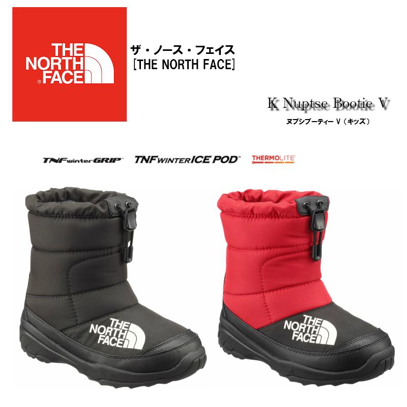 【お買物マラソン期間P5倍】THE NORTH FACE K Nuptse Bootie V スノーブーツ NFJ51881 ザ ノースフェイス 撥水加工 保温 ブーツ