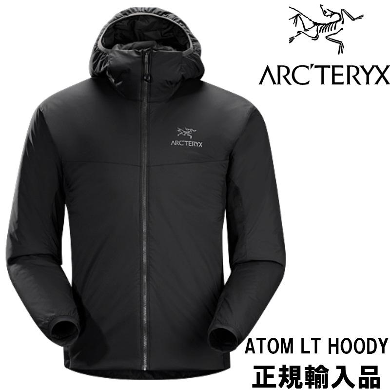 【お買物マラソン期間P5倍】【arc'teryx】アークテリクス ミッドレイヤー ATOM LT HOODY Mens BLACK ブラック アウトドア/ジャケット/フード