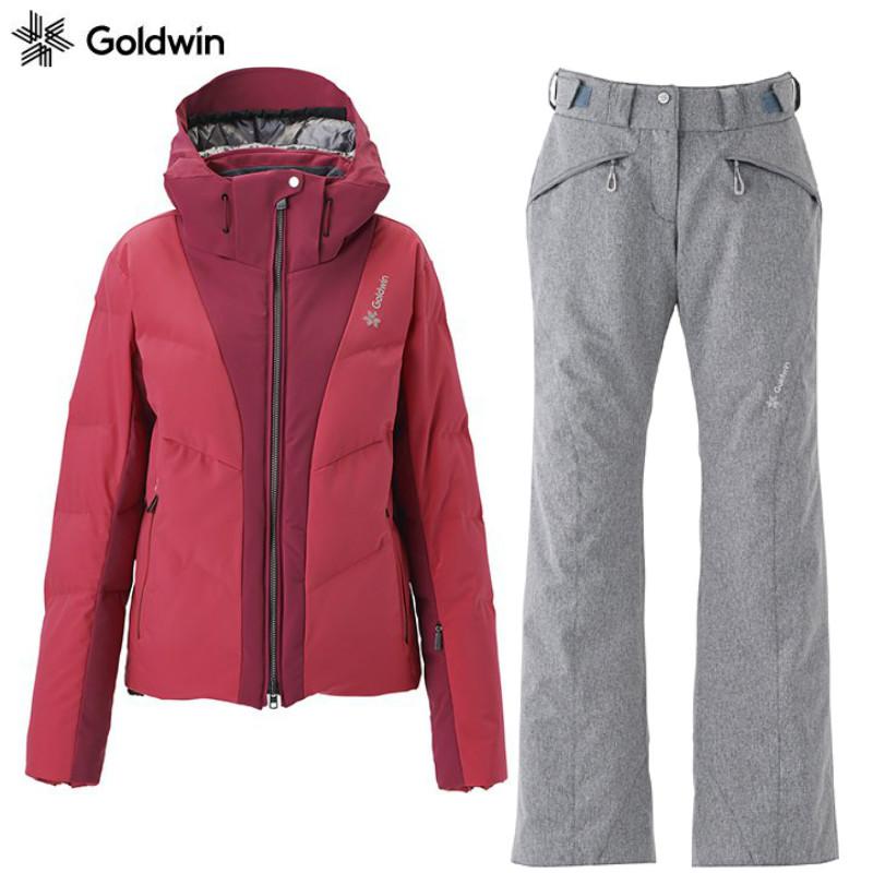 ゴールドウィン 2019 2020 GOLDWIN Charis Down Jacket FL GL11953P + 2018 2019 Balmy Multi Pants GL31860BP MH ゴールドウイン スキーウエア 上下セット Mサイズ