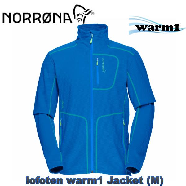 NORRONA ノローナ lofoten フリース  NORRONA lofoten warm1 Jacket Men ノローナElectricBlue ロフォテン スキー スノボ スノーボード 男性BC バックカントリー フリース