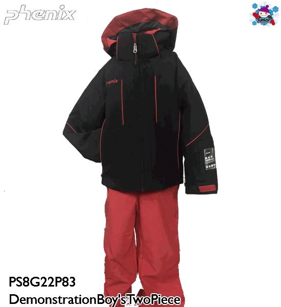 【お買物マラソン期間P5倍】【PHENIX】 フェニックス スキーウェア Demonstration Boy's Two-Piece ツーピース PS8G22P83 Black スキー キッズ ジュニア 子供 男の子 上下セット ジャケット&パンツ ウェア 130 140 150 160 170