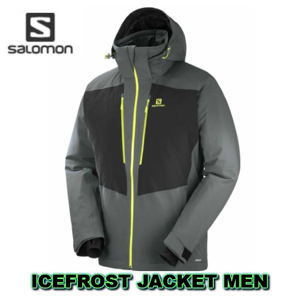 SALOMON 2019 サロモン ICEFROST JKT M メンズ ForgedIron Black L40380400 スキーウェア ジャケット 送料無料
