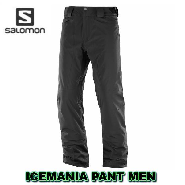 サロモン 2019 2020 SALOMON  ICEMANIA PANT Men LC1004000 ASIAN LENGTH Black アジアンレングス スキーウェア パンツ 送料無料 メンズ