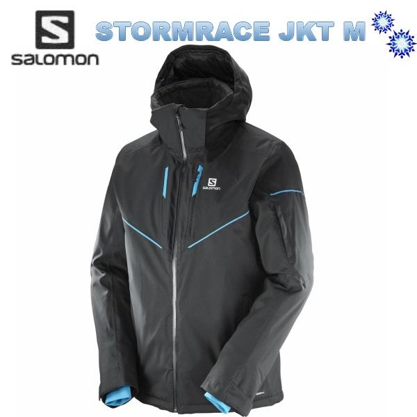 SALOMON 2018 サロモン メンズ STORMRACE JKT Men L39889300 Black スキーウェア ジャケット 送料無料