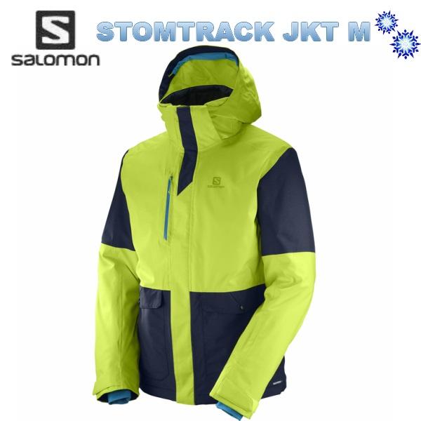 【スーパーセール大特価】SALOMON STORMTRACK JKT Men L39766000 AcidLime/NightSkyv2018 サロモン メンズ スキーウェア ジャケット 送料無料
