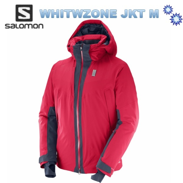 サロモン SALOMON スキーウェア メンズ 送料込 SALOMON 2018 サロモン メンズ WHITEZONE JKT Mens L39711900 BarbadosCherry/NightSky スキーウェア ジャケット 送料無料