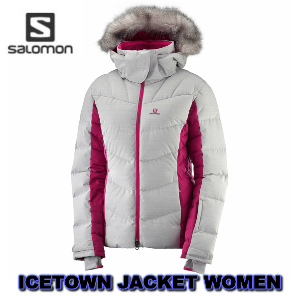 SALOMON サロモン 2019 ICETOWN JKT W VaporCerise L40352100 女性 レディス ジャケット 送料無料 スキーウエア ダウン