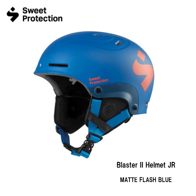【お買物マラソン期間P5倍】Sweet Protection Blaster II JR Helmet Matte Flash Blue ブラスターII ジュニア スキー ヘルメット スノボ スノーボード キッズ こども