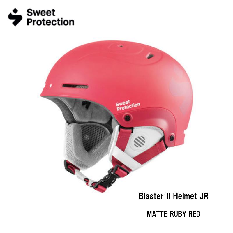【お買物マラソン期間P5倍】Sweet Protection Blaster II JR Helmet Matte Ruby Red ブラスターII ジュニア スキー ヘルメット スノボ スノーボード キッズ こども