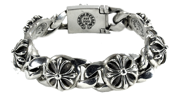 Chrome hearts ( Chrome Hearts ) chrome hearts bracelet men's chrome cross-links (necklace silver accessories wallets T shirts caps ring belt 22 k)