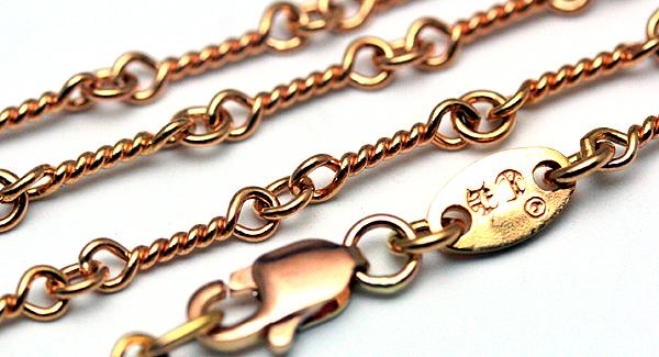 クロムハーツ(Chrome Hearts)ネックレス・チェーン・22Kゴールド・ツイスト20インチ(約50cm)