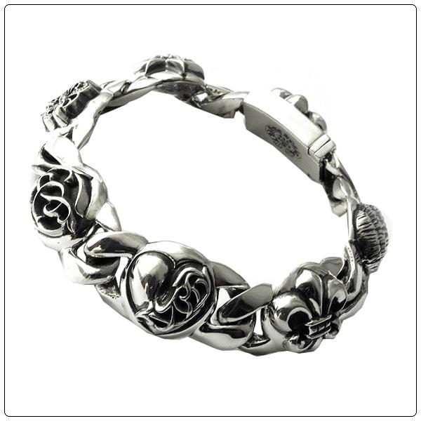 Ams-la: Chromic Hertz Bracelet (Chrome Hearts) Multilink