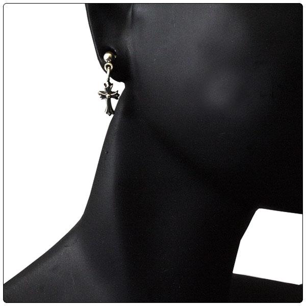 Chrome hearts (CHROME HEARTS) pierced earrings drop stack CH cross
