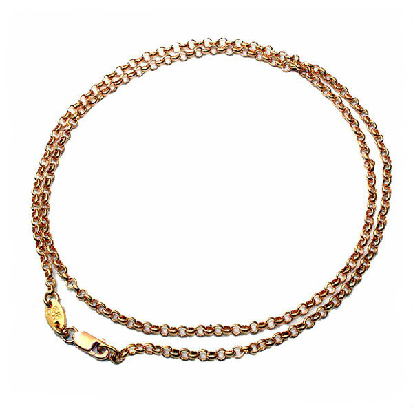 クロムハーツ(Chrome Hearts)ネックレス・チェーン・22Kゴールド・ロールチェーン20インチ(約50cm)