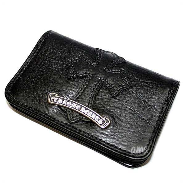 huge discount b683c f9299 Chromic Hertz wallet (Chrome Hearts) card case # 2. GRMT/ scroll  セメタリーレザーパッチブラックヘビーレザー wallet (men's) ...