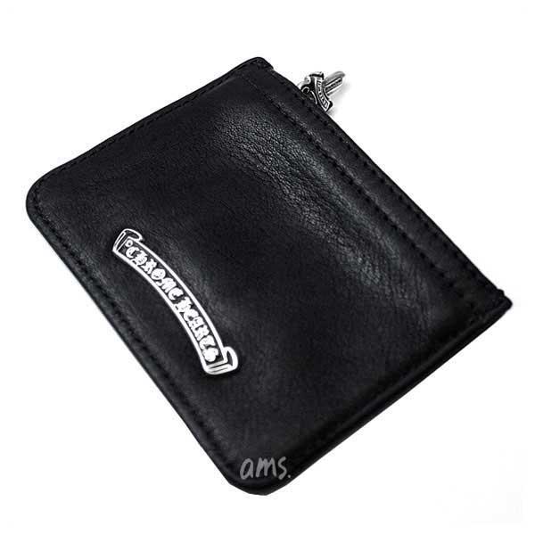 クロムハーツ 財布(Chrome Hearts)ジッパーチェンジパース3×4・ブラック・レザー(メンズ)(クロム・ハーツ)(小銭入れ)(コインケース)