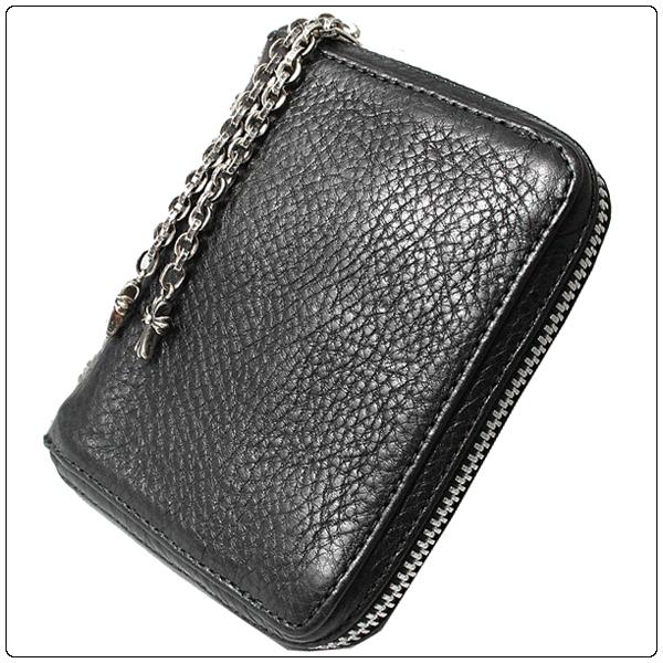 bdd583996c86 クロムハーツ財布(ChromeHearts)3サイドジップブラック・ヘビーレザーウォレット(メンズ