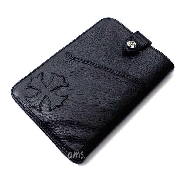 クロムハーツ(Chrome Hearts)ウォレット ザ ウェイ アイ ウォーク ブラック ヘビー レザー (iphone) (スマートフォン) (パスポートケース)