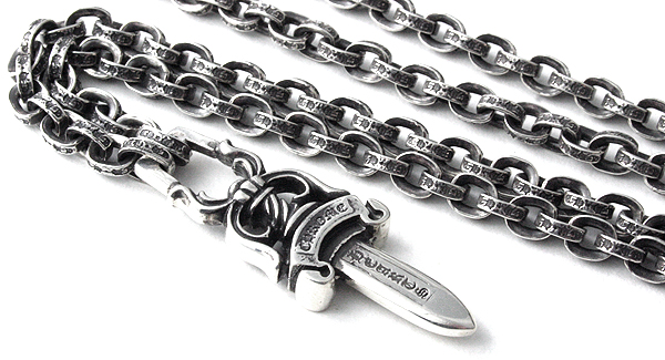 92694b8996cf Chrome hearts ( Chrome Hearts ) chrome hearts necklace chain paper chain 24  inches (60 cm) and   10 dagger (pendant mens silver accessories wallets T  ...