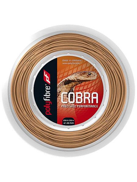 ポリファイバー コブラ (120/125/130) 200Mロール 硬式テニスガット ポリエステルガット(Polyfibre Cobra 200M Reel String)