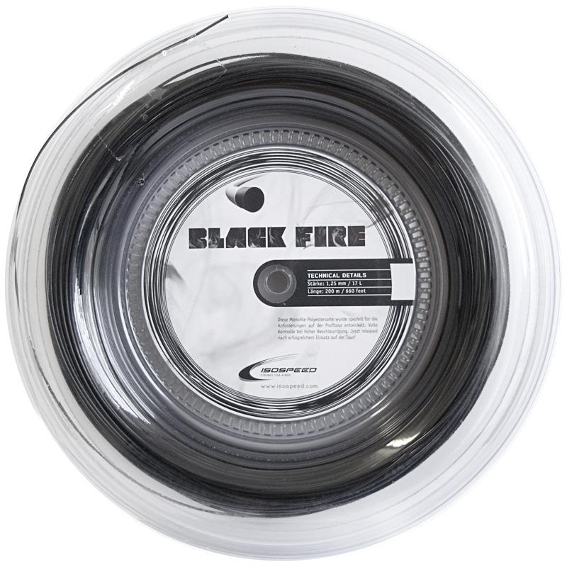 イソスピード ブラックファイアー(1.25mm) 200Mロール 硬式テニスガット ポリエステルガット(Isospeed Black Fire 1.25 (black) 200m reel[次回使えるクーポンプレゼント]