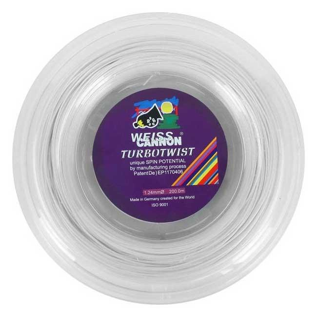 ウエスキャノン(WEISS CANNON) ターボツイスト(1.18mm/1.24mm) 200Mロール 硬式テニス ポリエステルガット【2018年1月登録】[次回使えるクーポンプレゼント]
