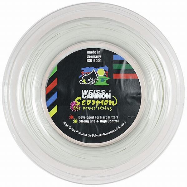 ウエスキャノン(WEISS CANNON) スコーピオン(1.22mm/1.28mm) 200Mロール 硬式テニス ポリエステルガット(18y1m)[次回使えるクーポンプレゼント]