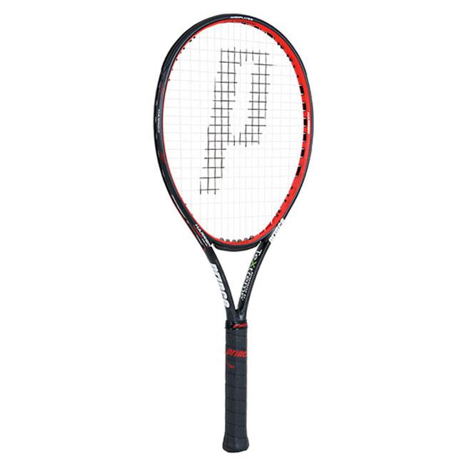 【在庫処分特価】プリンス(Prince) ハリアー 104XR-J (280g) 7T40F ブラックxレッド 国内正規品【硬式テニスラケット】[AC][次回使えるクーポンプレゼント]