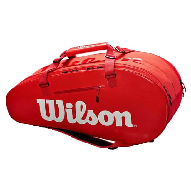 【9本収納】ウィルソン(Wilson) 2018 SUPER TOUR 2 COMP LARGE RED 9PK ラケットバッグ レッド WRZ840809