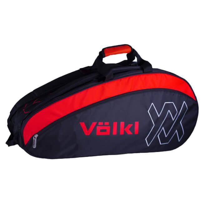 【6本収納】フォルクル(Volkl) 2018 チーム コンビ ラケットバッグ ブラック×ラヴァ V78202【2018年9月登録】次回使えるクーポンプレゼント