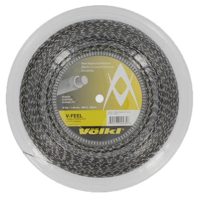 フォルクル(Volkl) Vフィール V-Feel 17(1.25mm)/16(1.30mm) 200Mロール ブラックxシルバー 硬式テニス マルチフィラメントガット 【2018年11月登録】[次回使えるクーポンプレゼント]