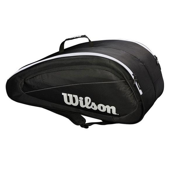 [ロジャーフェデラー][12本収納]ウィルソン(Wilson) フェデラー チーム 12PK ラケットバッグ ブラック WRZ834812(1812)