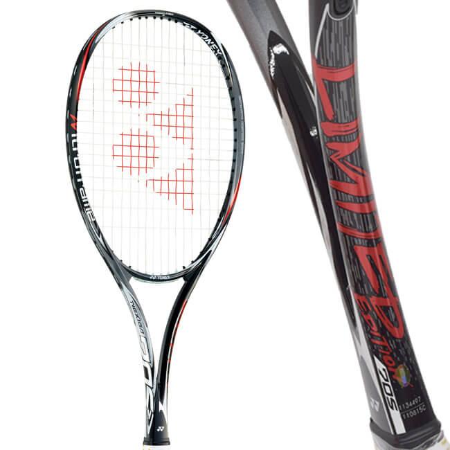 【数量限定レアカラー】ヨネックス(YONEX) ネクシーガ 70S リミテッドエディション ブラックxレッド ソフトテニスラケット NXG70SLD-187【2018年12月登録】[AC][次回使えるクーポンプレゼント]