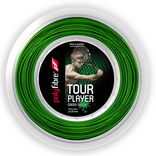 ポリファイバー ツアー プレイヤー グリーンタッチ(1.23mm)200Mロール 硬式テニスガット ポリエステルガット(Polyfibre Tour Player 17/1.23 String Green Touch)(15y8m)[次回使えるクーポンプレゼント]
